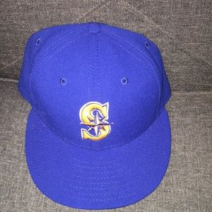 Seattle Mariners Blue Fitted Baseball Cap 7 1/2
